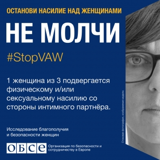 #StopVAW End the Silence Banner Moldavia in Russian language