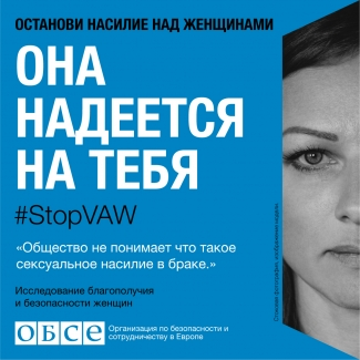 #StopVAW She Is Counting On You Banner for Moldavia in Russian