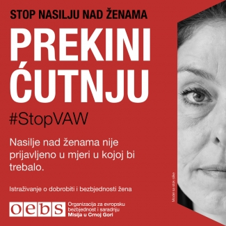 #StopVAW End The Silence Banner MNE